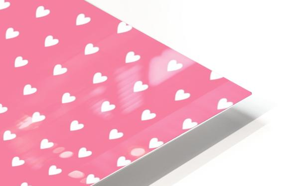 Pink Sherbet Heart Shape Pattern HD Sublimation Metal print