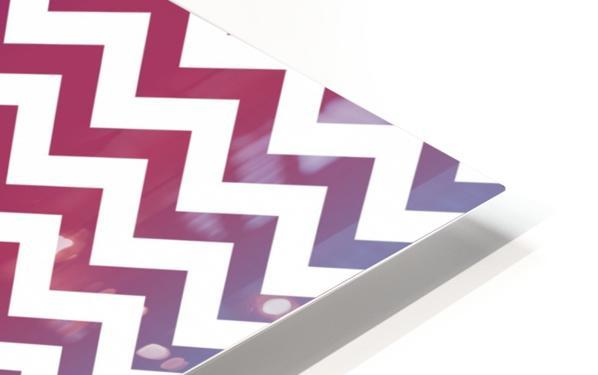 PLUM CHEVRON HD Sublimation Metal print