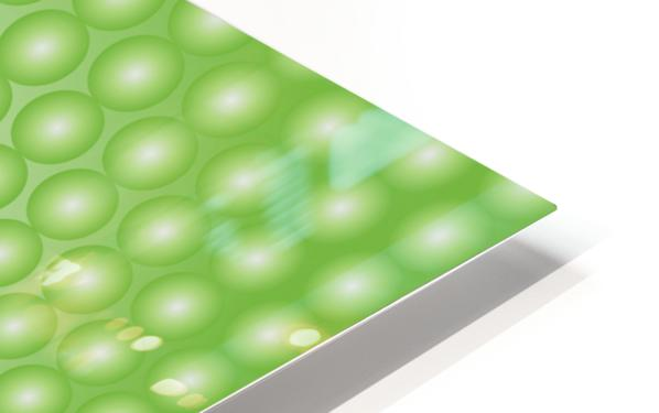 Yellow Green Pearl Pattern HD Sublimation Metal print