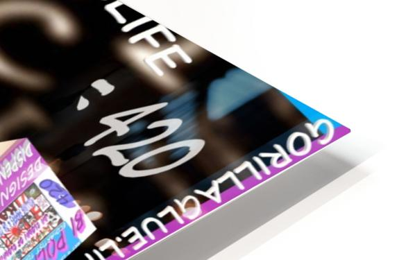 E=MC2=420  HD Sublimation Metal print