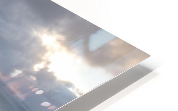 Snowy Skyline HD Sublimation Metal print