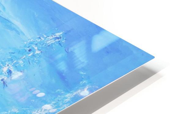Monochromatic Blue Rocky Mountains HD Sublimation Metal print