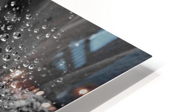 Spiderweb Raindrops B&W HD Sublimation Metal print