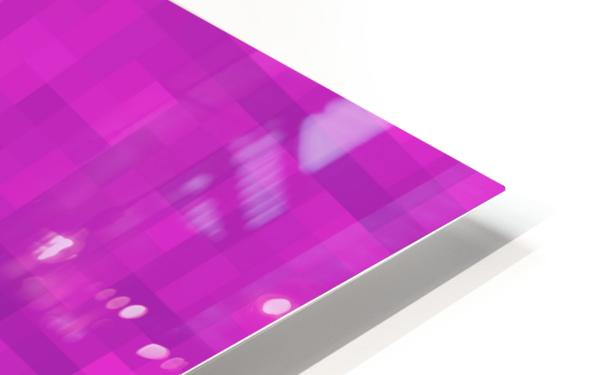 geometric square pixel pattern abstract in pink and purple HD Sublimation Metal print