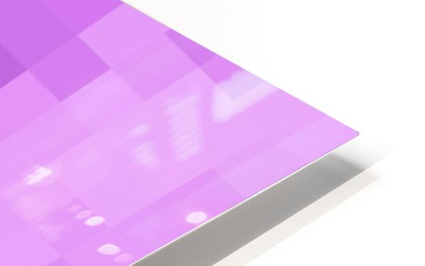Abstract Pixel Art - Purple Shades HD Sublimation Metal print