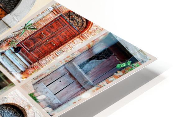 Italian Wooden Doors Collage HD Sublimation Metal print
