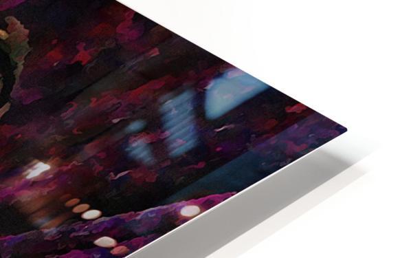 Purple Posing Puppy HD Sublimation Metal print