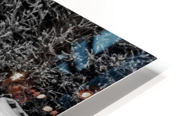 Easy To Estimate Snow Depth BW HD Sublimation Metal print