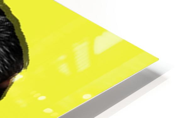 Yellow Freddie Mercury HD Sublimation Metal print