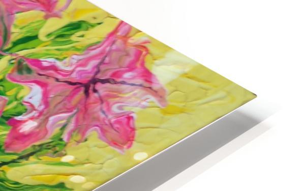 Pink Flowers in vase  HD Sublimation Metal print