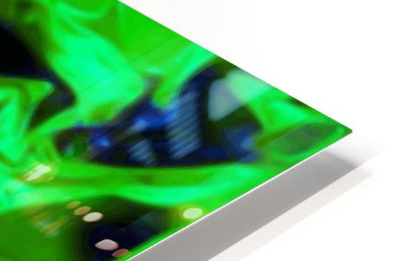 Gemphire - emerald green dark blue abstract swirls wall art HD Sublimation Metal print