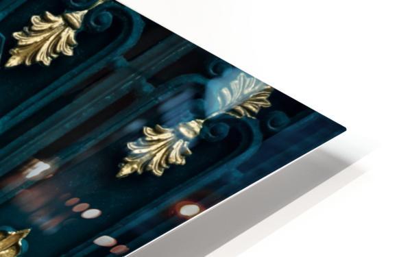 blue and brown yin yang illustration HD Sublimation Metal print