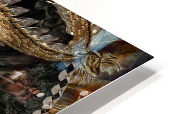 fantasy Dragon Pentagram HD Sublimation Metal print