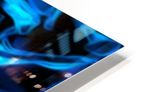 True Lightning - blue white black swirls abstract wall art HD Sublimation Metal print