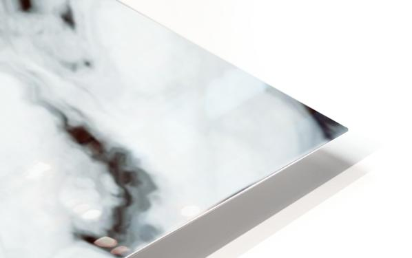 True White Marble - panoramic abstract wall art HD Sublimation Metal print
