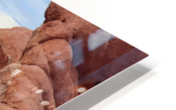 Beautiful Red Rock structures in the Desert HD Sublimation Metal print