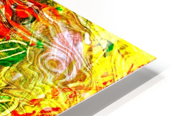 orange flower energy abstraction HD Sublimation Metal print