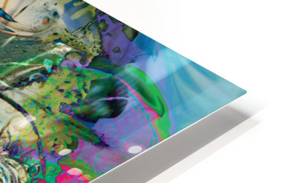 mottled multicolored abstract composition HD Sublimation Metal print