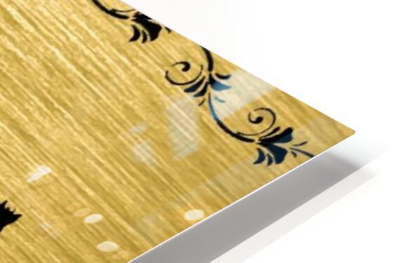 Gold illustration for interior decoration 2 HD Sublimation Metal print