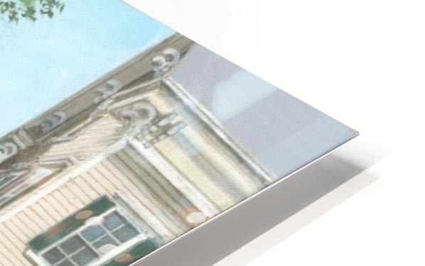 Main Street Monument - Newtown Scenes 16X16 HD Sublimation Metal print