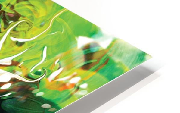 green fluid abstract HD Sublimation Metal print
