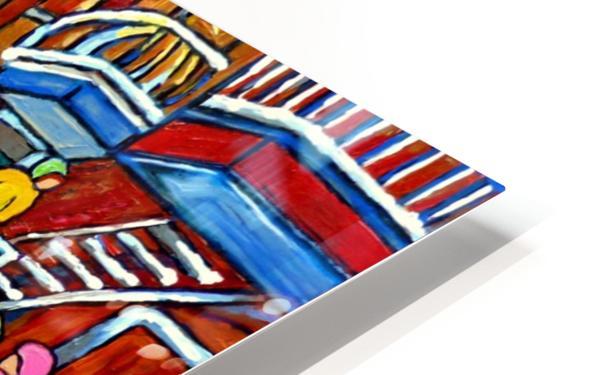 WINTER  WONDERLAND MONTREAL PAINTINGS  HD Sublimation Metal print