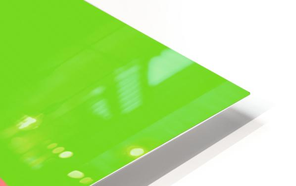 Lake Sunset - Green HD Sublimation Metal print