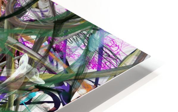 dancingonFire_GreenBlackBlue HD Sublimation Metal print
