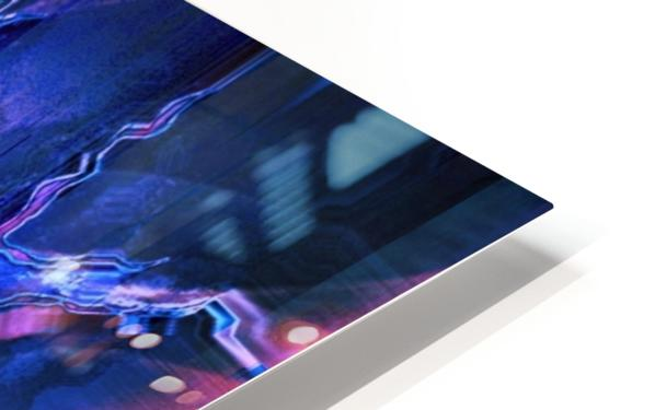 Blue Portrait HD Sublimation Metal print