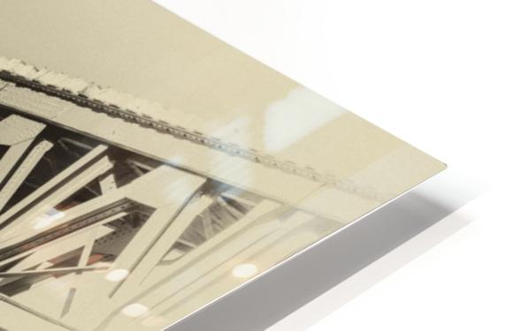 Railway Bridge in B&W HD Sublimation Metal print