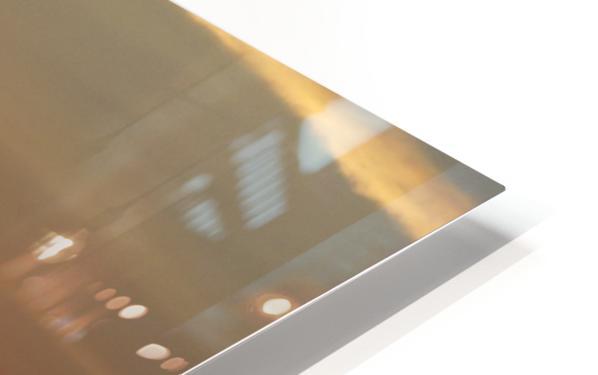 Orange Sunset Vertical HD Sublimation Metal print