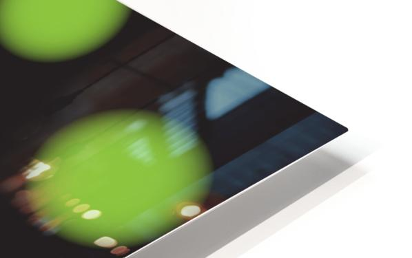 Green Spiral Dots HD Sublimation Metal print