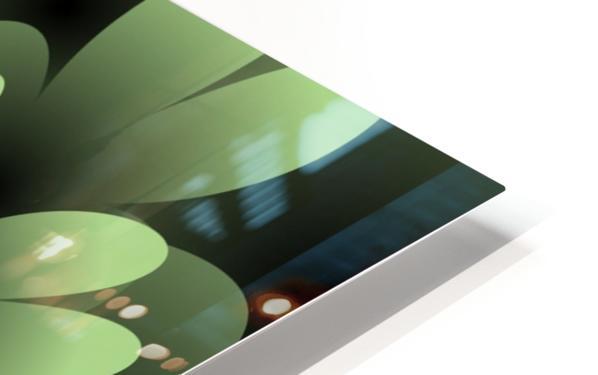 Green Floral Satin Wallpaper HD Sublimation Metal print