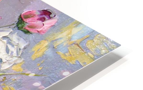 Bouquet of delicate roses HD Sublimation Metal print