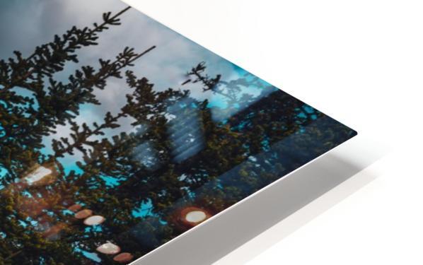 Cascade Mountain Through The Trees HD Sublimation Metal print