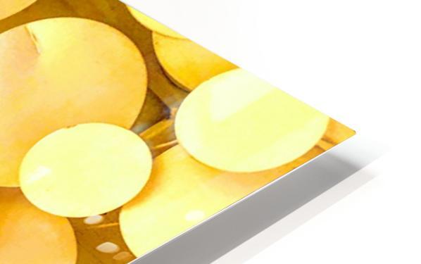 yellow circles HD Sublimation Metal print