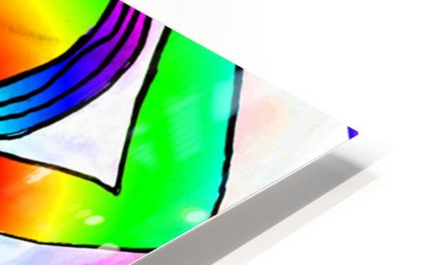 el camino rainbow HD Sublimation Metal print