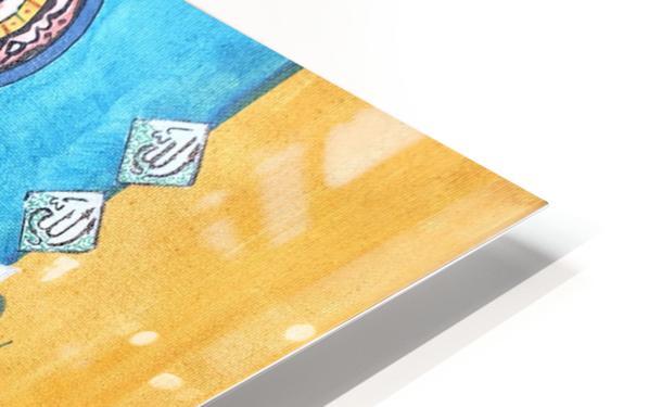 Ahson_Qazi_Geometric Calligraphy artSurah Akhlas ahson_qaziShades_of_DivinityIslamic_Artacrylic markers on stretched canvass 14x14 HD Sublimation Metal print