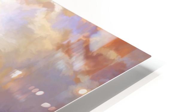 Dark Mountains HD Sublimation Metal print