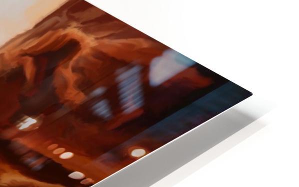 Sharp Cliffs HD Sublimation Metal print