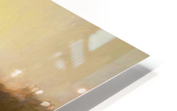 Impressionist landscape HD Sublimation Metal print