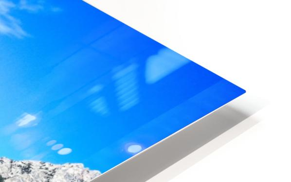 Teton reflection in Jenny lake HD Sublimation Metal print