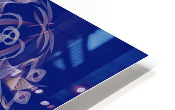 Limited Edition - Blue Graphic Art Healing Mandala 1005 HD Sublimation Metal print