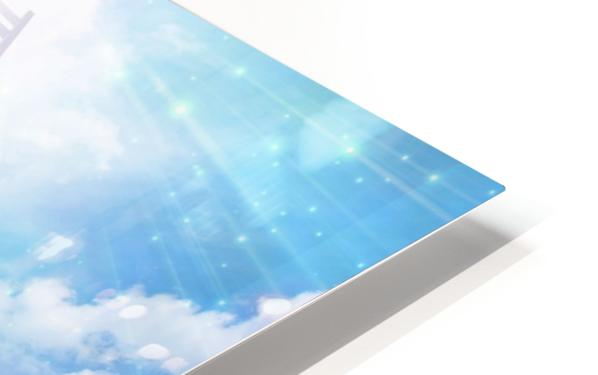 Ladder to the Sky HD Sublimation Metal print