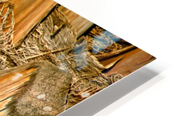 Jagged Gold HD Sublimation Metal print