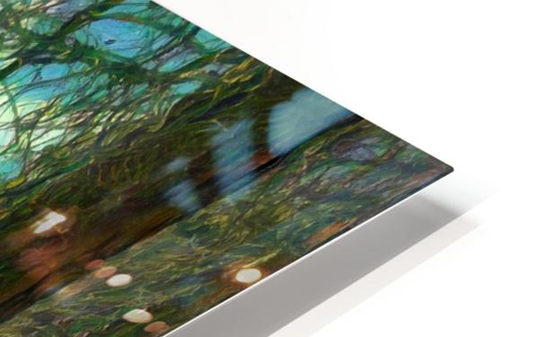 Rocky Mountain waterfall HD Sublimation Metal print