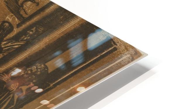 Marthe et Madeleine allant au Temple HD Sublimation Metal print