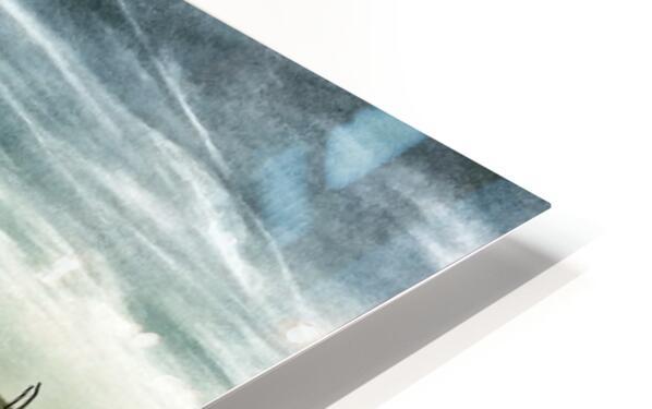 Driftwood Beach Panorama 103 Blackgold HD Sublimation Metal print