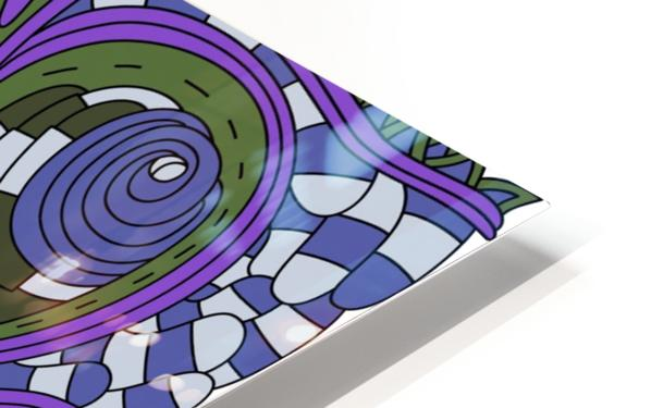 Wandering Abstract Line Art 03: Purple HD Sublimation Metal print