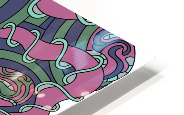 Wandering Abstract Line Art 04: Pink HD Sublimation Metal print